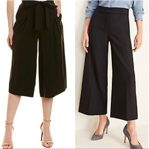 Pleated Cuffed Culottes With Belt